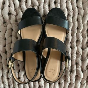 A New Day suede and faux leather platform sandals